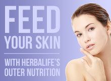 Feed your skin with Herbalife's Outer Nutrition ranges.