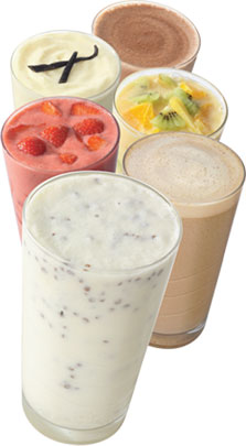 All six flavours of Herbalife Formula 1 shakes.